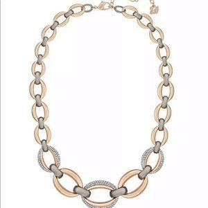 Swarovski Crystal Circlet Rose Gold Necklace 40cm
